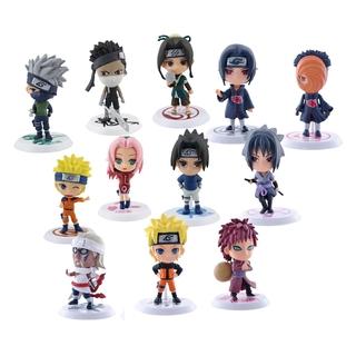 Bubble Shop61 Pack of 12 Pcs Anime Naruto 7cm PVC Action Cartoon Model Figures Doll Toys