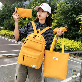 [Combo 4 món] Bộ balo vải dù kiểu dáng Hàn Quốc cho sinh viên học sinh - phù hợp đi học, đựng laptop, đi chơi, du lịch thumbnail