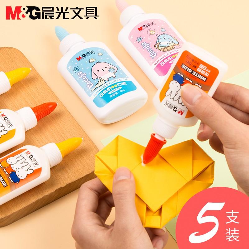 Chenguang Stationery Washable White Glue Viscose Fiber Object Glue Children Student Office Supplies White Latex Liquid M