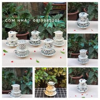Bộ Phin Pha Cafe Cà phê Coffee hoạ tiết men bóng Bát Tràng thumbnail