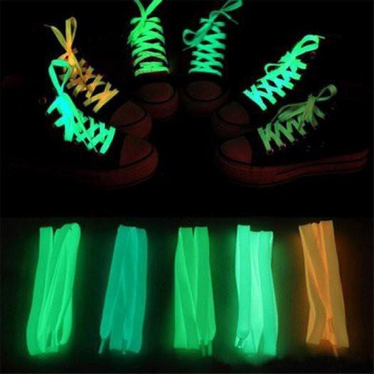 1 Đôi Dây Giày Dạ Quang Phát Sáng Trong Đêm 100 cm thời trang