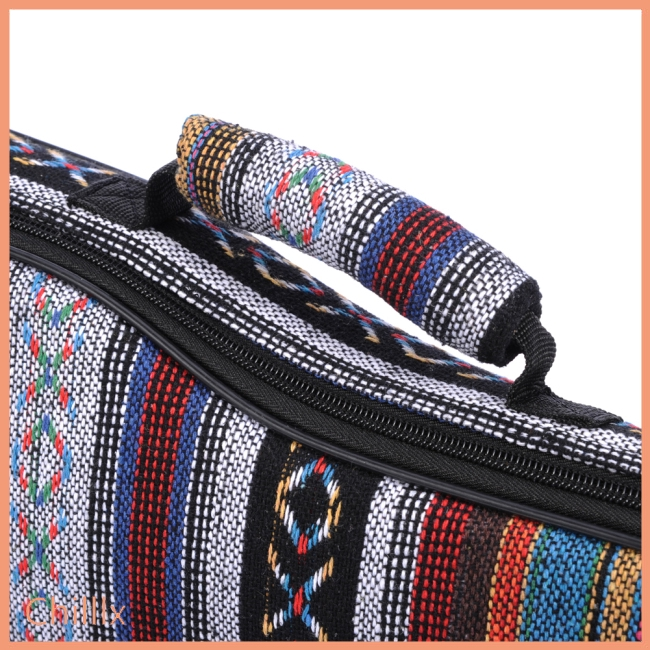 21 23 26 Inch National Style Canvas Ukulele Carry Bag Cotton Padded Double Strap Case for Ukulele Guitar