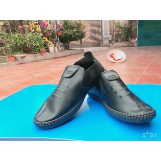 [xả kho] Giày Lười Nam 3 vạch nâu, đen lẻ size 39 sp1