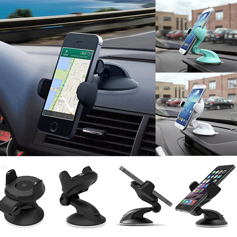 Ÿμ-Universal 360° in Car Windscreen Dashboard Holder Mount Any size Mobile Phones