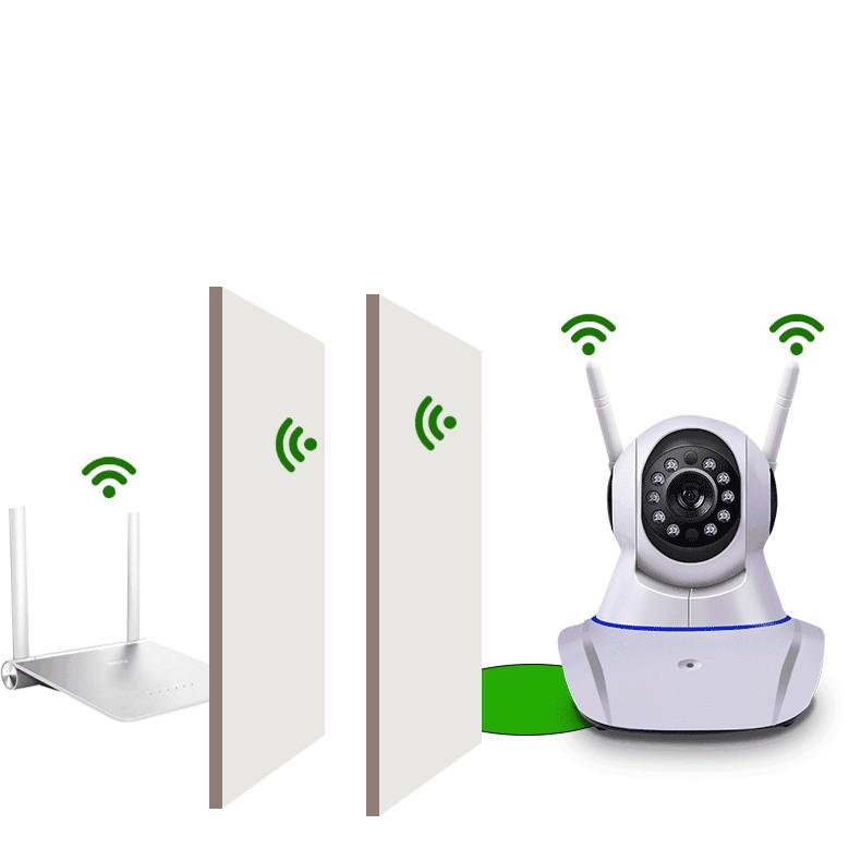 Camera IP Wifi không dây Keye HD 720 xoay 360 độ xoay ngang dọc trên điện thoại