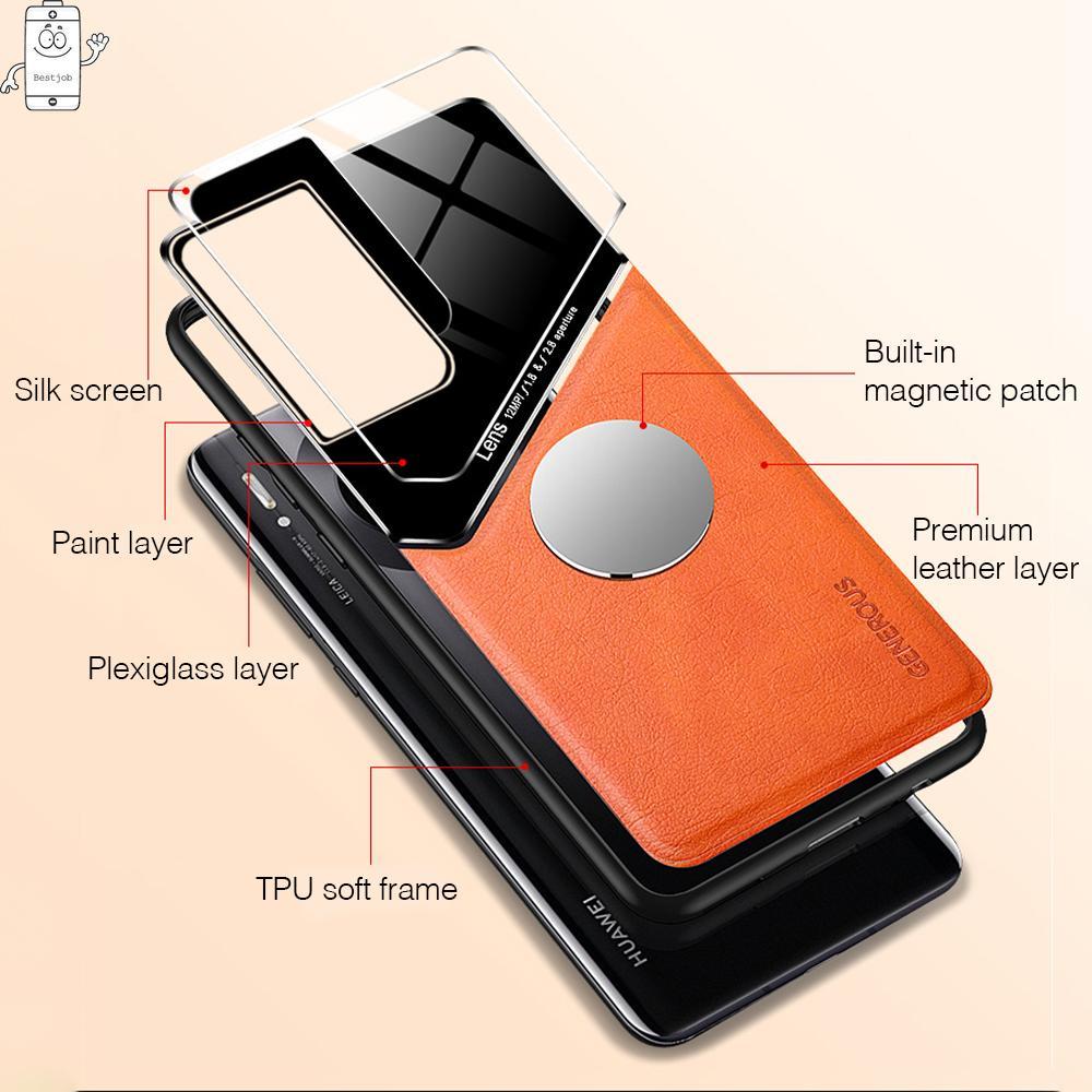 Ốp điện thoại da từ tính thông minh chống sốc tiện dụng cho Samsung Galaxy S21 S21 Plus S21