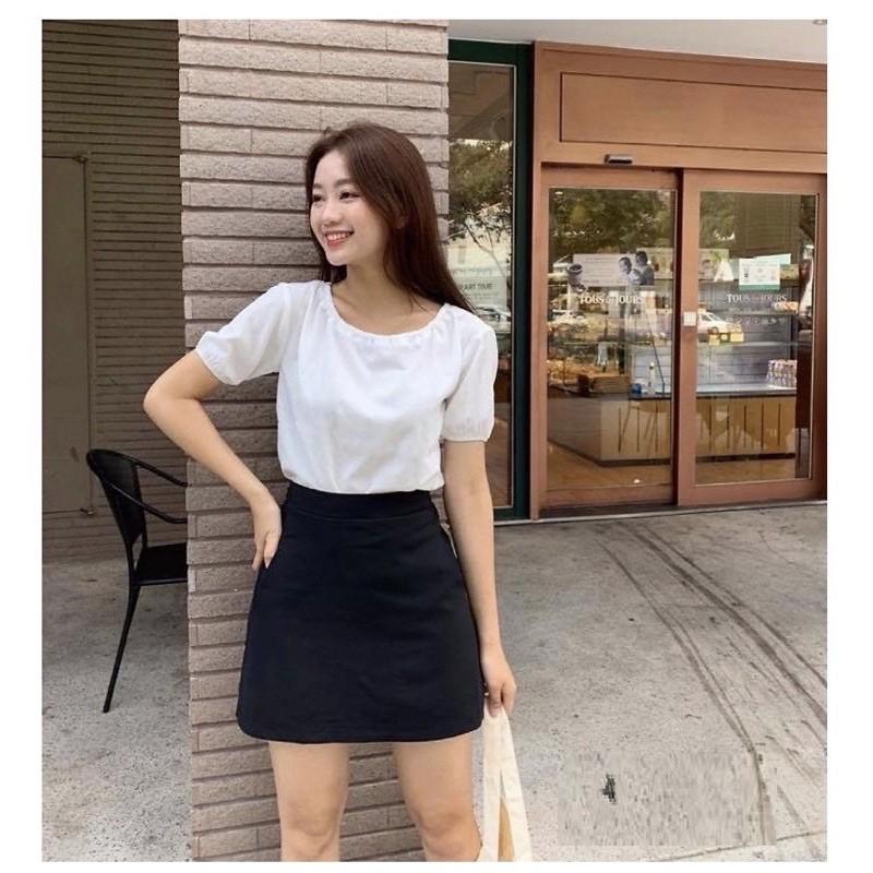 [QUÀ TẶNG LÀ GÓI XẢ VẢI BẠN NHÉ] Chân váy chữ A ngắn lưng cao có quần lót cao cấp, chân váy ngắn đẹp 2021
