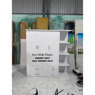Tủ nhựa Đài Loan 3 cánh 1 kệ FULL TRẮNG ĐẸP FREESHIP