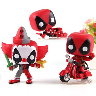 Deadpool On Scooter Clown Deadpool POP Vinyl Bobble Head Action Figure