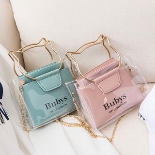 Túi Xách Thời Trang Cho Nữ,Túi nhựa PVC trong xuốt Boutique siêu dễ thương,Tai mèo trong suốt túi xách