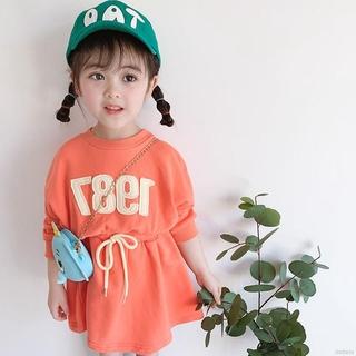 Jumpsuit Sweater Dài Tay In Chữ Xinh Xắn Dành Cho Bé Gái / Size 2 / 130