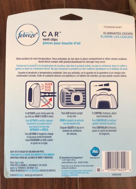 COMBO 5 Nước hoa xe hơi Febreze USA