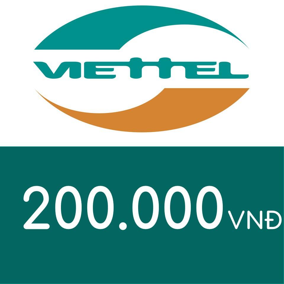 Nạp điện thoại Viettel 200K