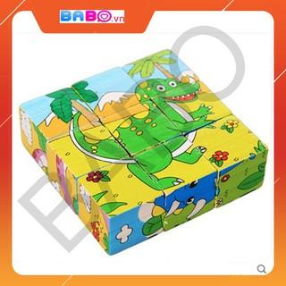 [FollowShop giảm 5%] Đồ chơi xếp hình bằng gỗ 6 mặt sơn 9 chiều cho bé – TG78