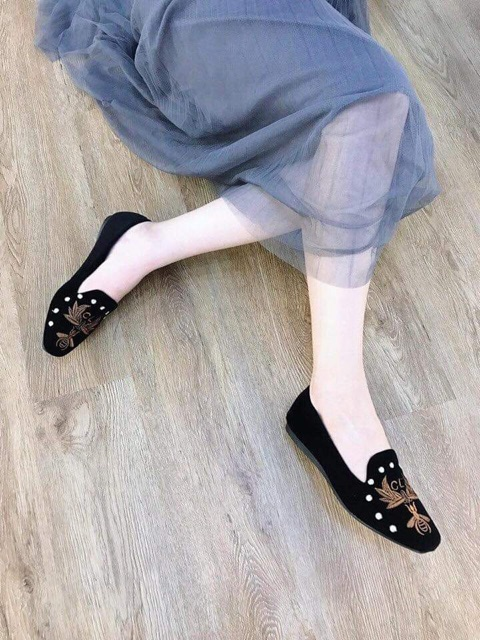 Giày thêu Ong kiểu mới - Giày búp bê- Giày nữ đẹp