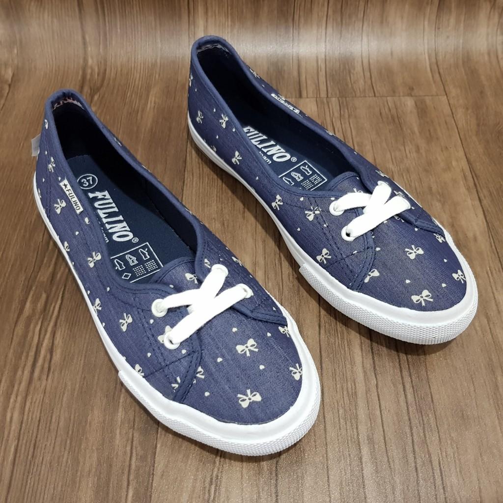 Giày Lười Vải Nữ Fulino Chính Hãng Mã H1567 ( 3 Mẫu )