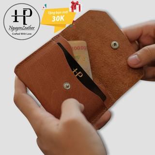 Ví Đựng Thẻ ATM, Card Holder Đựng Namecard Da Bò Thật Nhỏ Gọn
