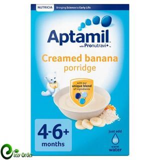 (NỘI ĐỊA ANH) Bột cháo ngũ cốc dinh dưỡng kem chuối Aptamil 125g