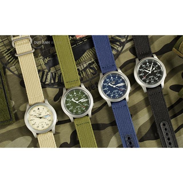Dây đồng hồ Seiko 5 quân đội các màu tặng kèm dụng cụ thay dây