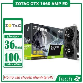 Card màn hình ZOTAC GTX 1660 AMP ED (6GB GDDR5, 192-bit, HDMI+DP, 1x8-pin) thumbnail