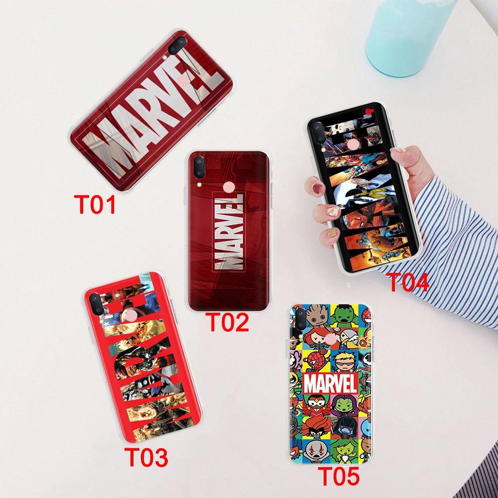 Ốp Điện Thoại Dẻo Trong Suốt Họa Tiết Truyện Tranh Marvel Cho Xiaomi Poco  X3 Nfc Mi 8 9 Se 9t Pro A2 Lite 176gt