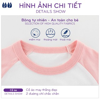 Áo thun bé gái 27HOME áo thun cho bé in hình ngộ nghĩnh