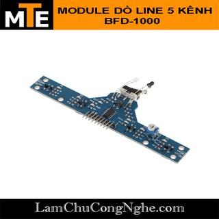 Mạch cảm biến dò line 5 kênh bằng hồng ngoại kết hợp công tắc hành trình tránh vật cản