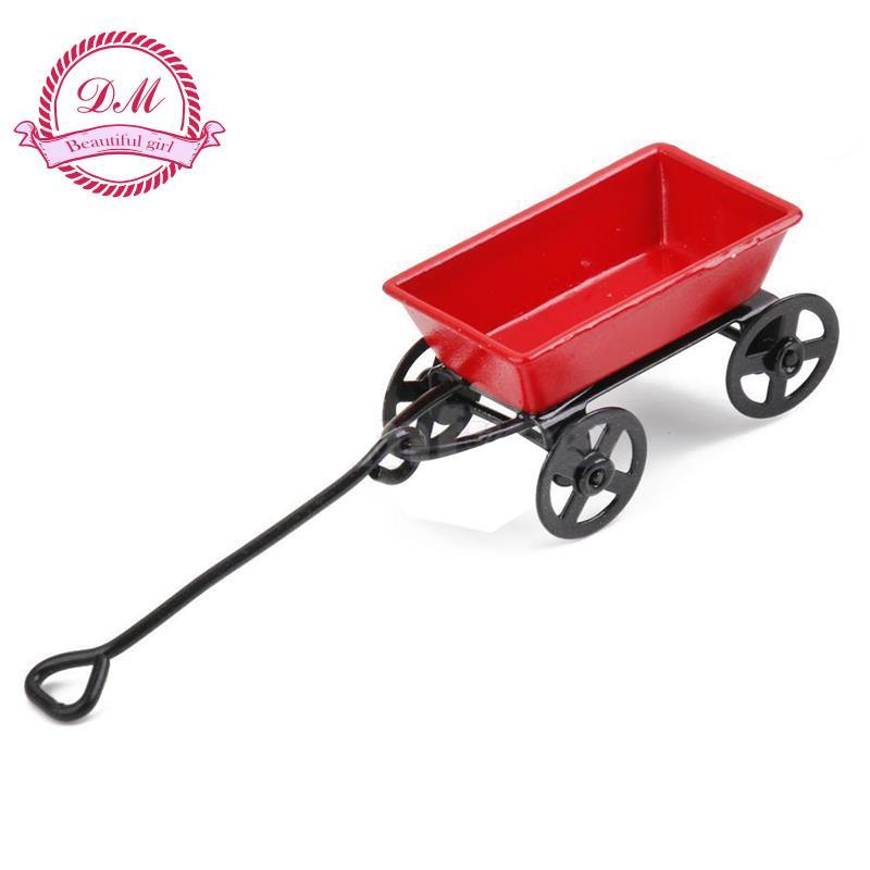 1:12 Dollhouse Miniature Fairy Garden Car red&black