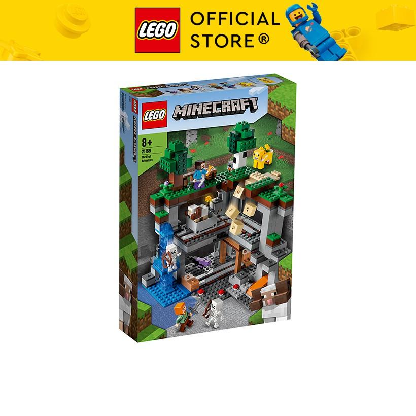 LEGO MINECRAFT 21169 Cuộc Phiêu Lưu Đầu Tiên ( 542 Chi tiết)