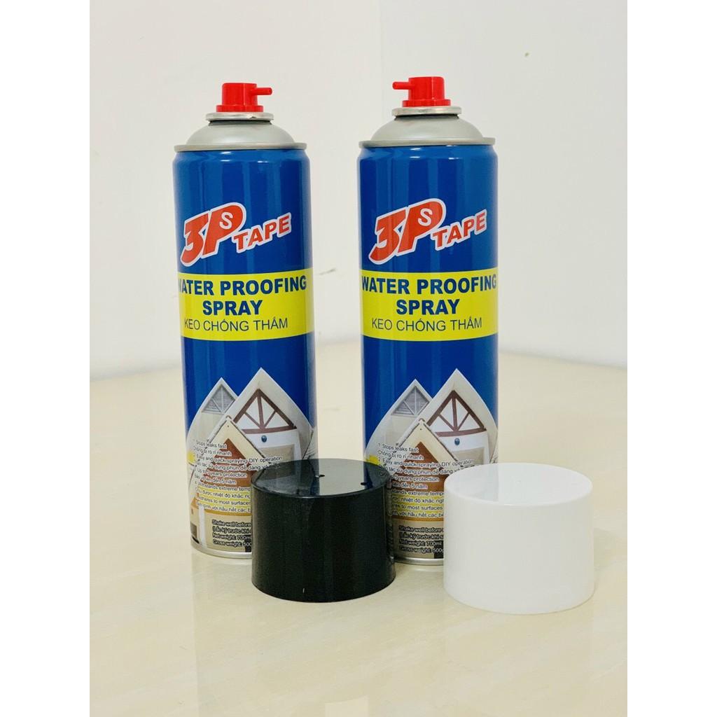 Bình xịt chống thấm 3ps Tape ct1 dạng nước màu đen và trắng ff2c