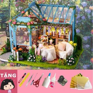 Mô Hình Nhà Gỗ DIY Tiệm trà Tường vy