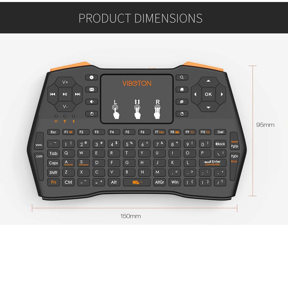 Bàn Phím Không Dây Mini Đa Năng Dành Cho TV Box điện thoại máy tính bảng, Android Box VIBOTON i8 Plus