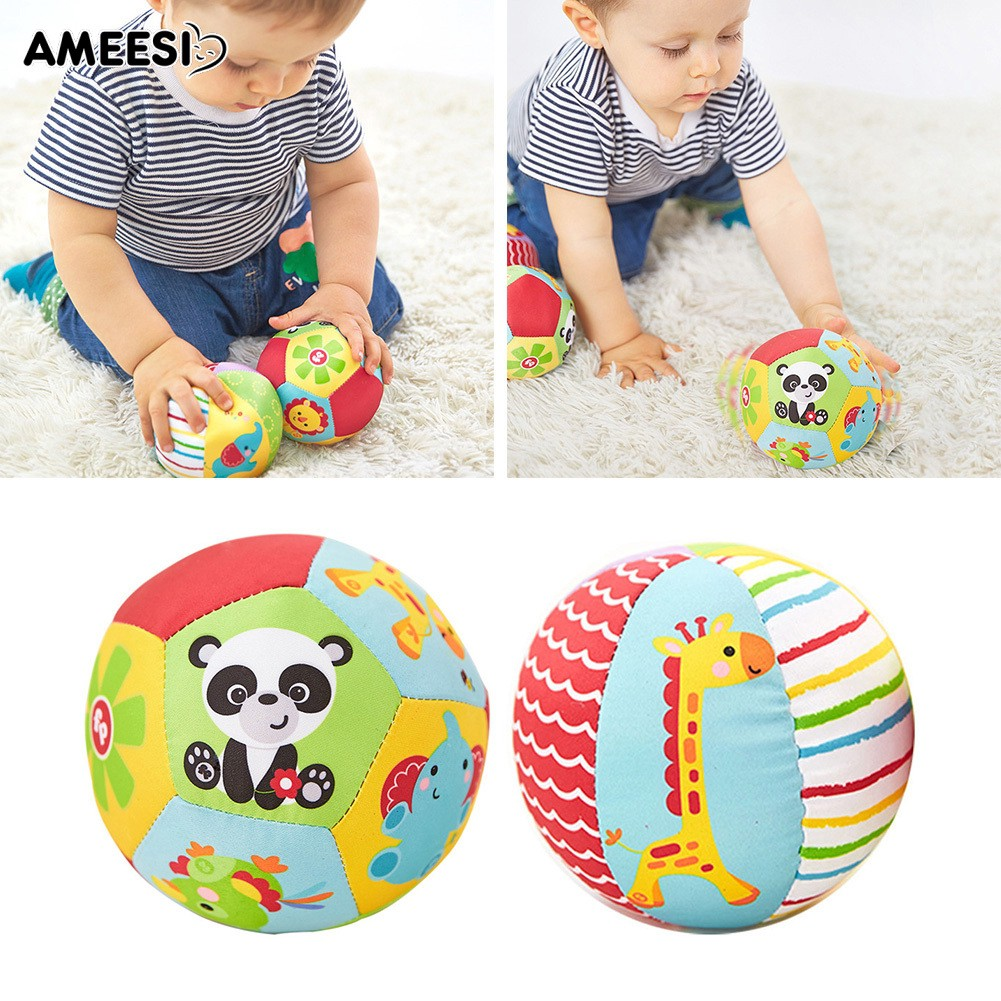 🔅🔆AMEESI  Infant Baby Toddler Kids Stuffed Ball Bell Sports Crib Toy