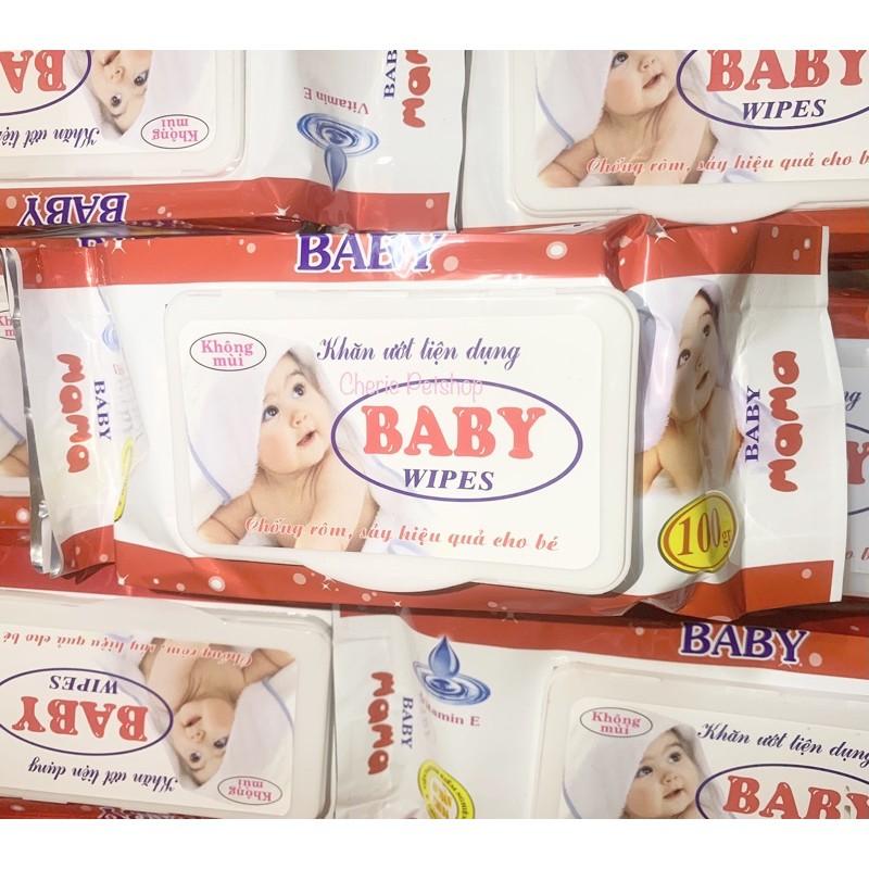 [Mã 157FMCGSALE giảm 8% đơn 500K] Giấy ướt tiện lợi baby wipes 100g