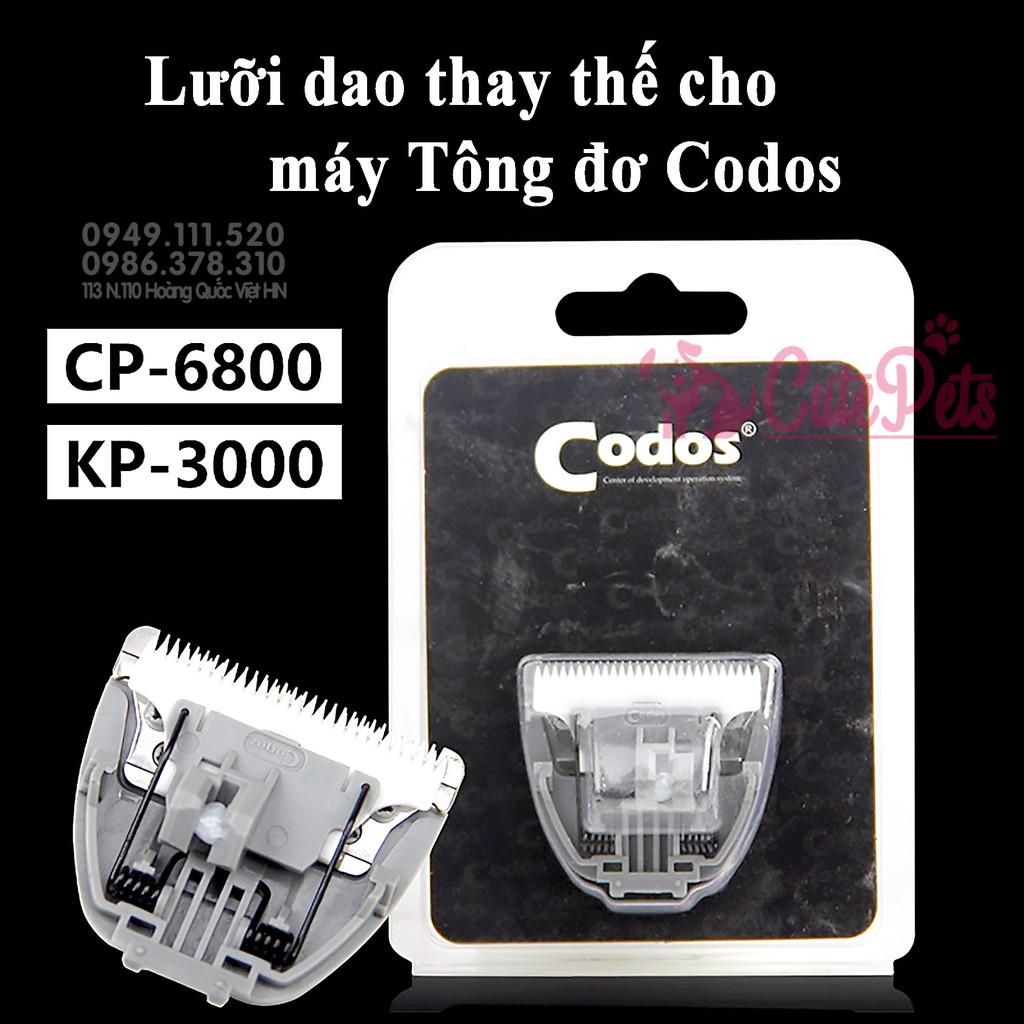 Lưỡi dao thay thế Tông đơ Codos CP 6800 - CutePets Phụ kiện thú cưng Pet shop Hà Nội