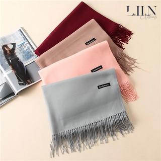 Khăn len choàng cổ thời trang nữ chữ Cashmere đủ màu LINBI Clothing SP001 thumbnail