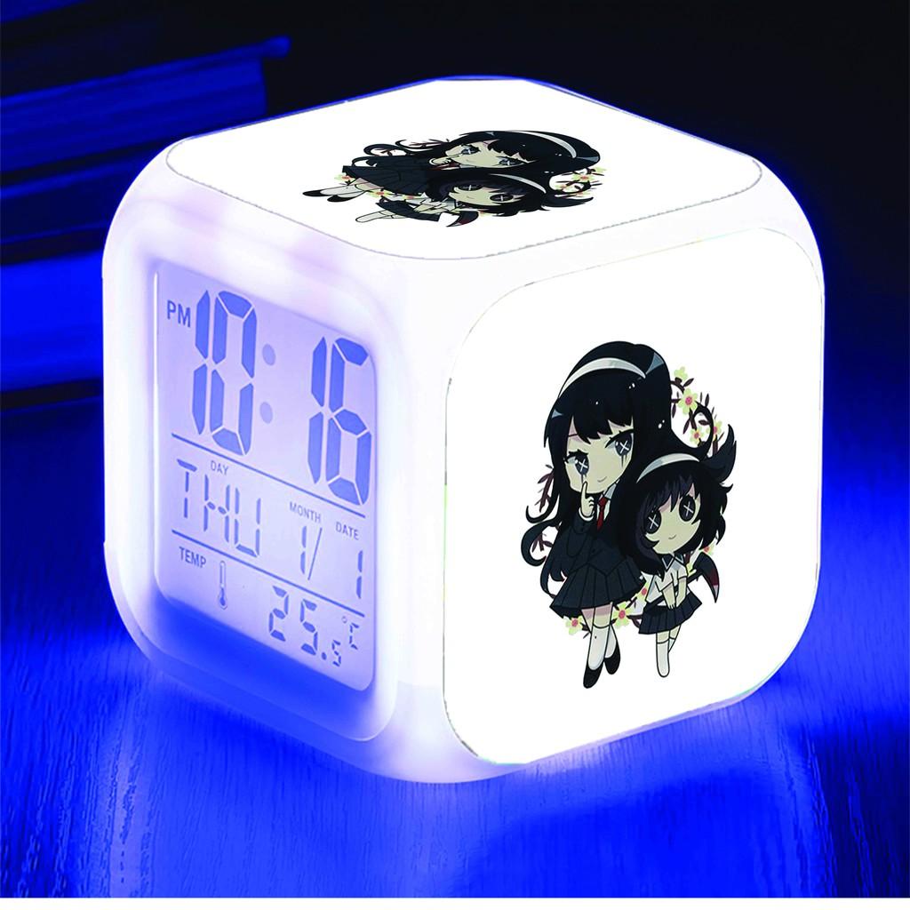 Đồng hồ báo thức để bàn in hình IDENTITY V NHÂN CÁCH THỨ 5 game anime chibi LED đổi màu