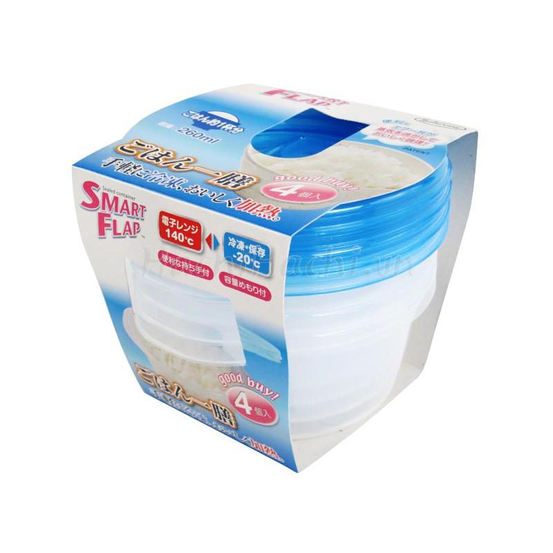 Hộp nhựa đựng thực phẩm Smart Flap 260mlx4 - 2960154 , 1297990200 , 322_1297990200 , 79000 , Hop-nhua-dung-thuc-pham-Smart-Flap-260mlx4-322_1297990200 , shopee.vn , Hộp nhựa đựng thực phẩm Smart Flap 260mlx4