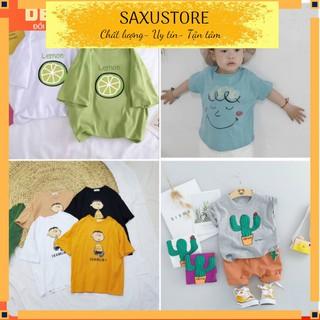 Áo phông cộc tay size đại cho bé trai bé gái từ 14-40kg áo phông dáng thụng trẻ em