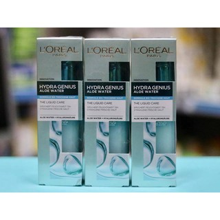 ( Hàng Đức chuẩn)Serum dưỡng ẩm, cung cấp nước Loreal Hydra Genius aloe water thumbnail