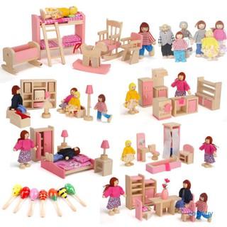 Đồ chơi nội thất bằng gỗ dễ thương cho bé squishy