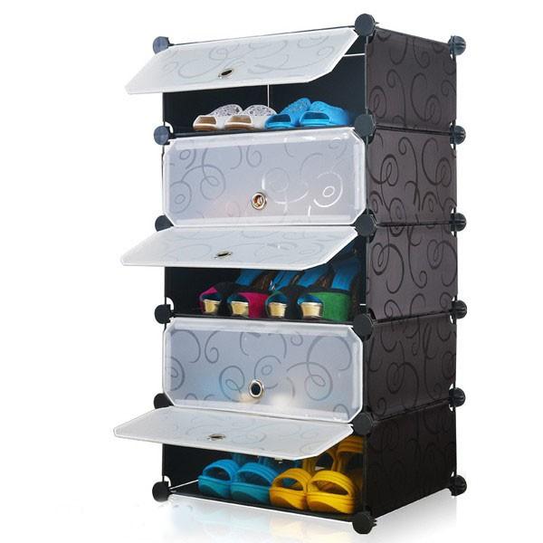 Tủ giày nhựa lắp ghép 5 ngăn
