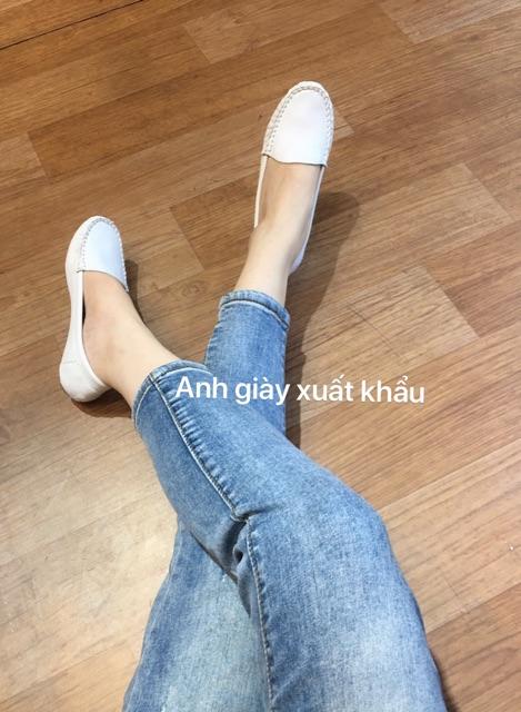 GB34/giàymoca/giày lười mũi tròn da dê xịn mềm êm ( ảnh thật, kèm video)