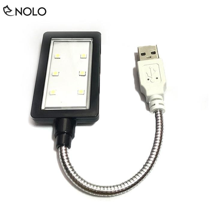 Combo 2 Đèn Mini Dùng Nguồn USB Model D6MD Chip Led Bán Dẫn SMD 6 Led Thân Đèn Hợp Kim Uốn Dẻo