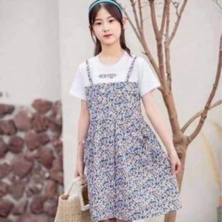 Váy yếm hoa nhí bé gái (size đại)