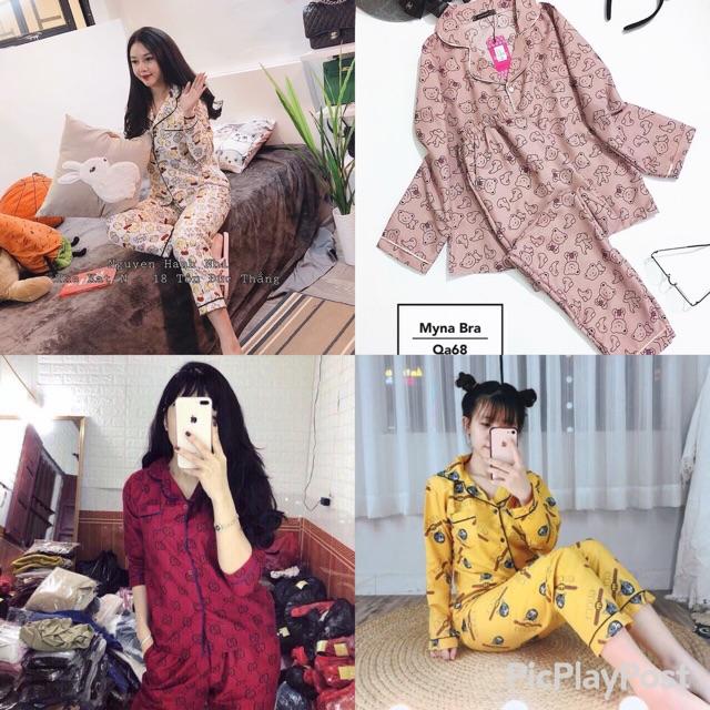 Bộ ngủ pijama tay dài quần dài | SaleOff247