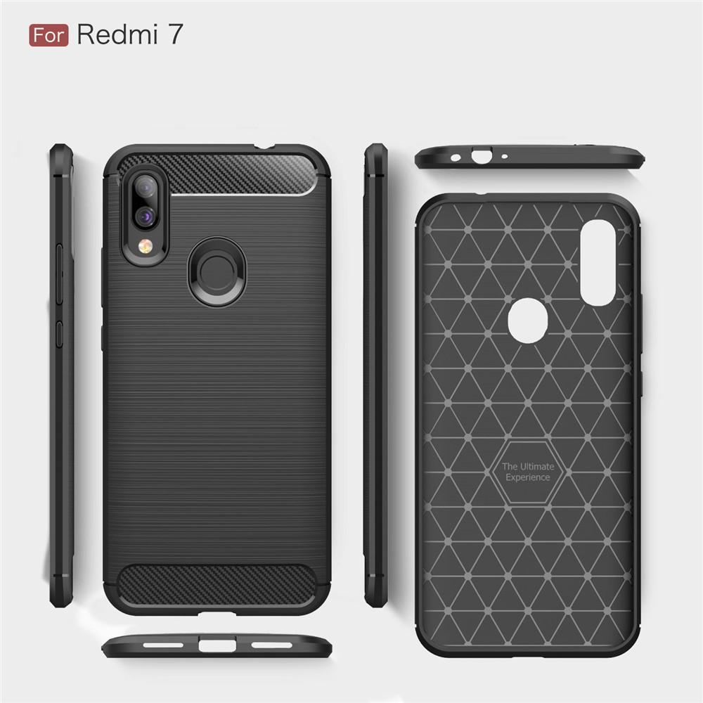 Ốp điện thoại TPU mềm pha carbon giảm sốc cực tốt cho Xiaomi Redmi 6A / Redmi 7