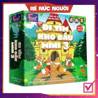 [SALE MÙA DỊCH] Board game-Đi tìm kho báu mini 3 Foxi-nâng cao khả năng xử lí tình huống-tranh luận-logic