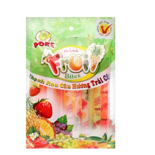 Thạch rau câu Poke hương trái cây 408g