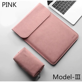 Túi da đựng Macbook Air 2020 13.3 Inch màu hồng cao cấp thumbnail